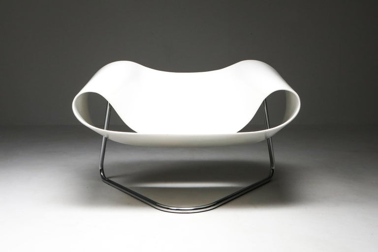 Mid-Century Modern Ribbon Chair by Franca Stagi for Bernini, 1961 For Sale
