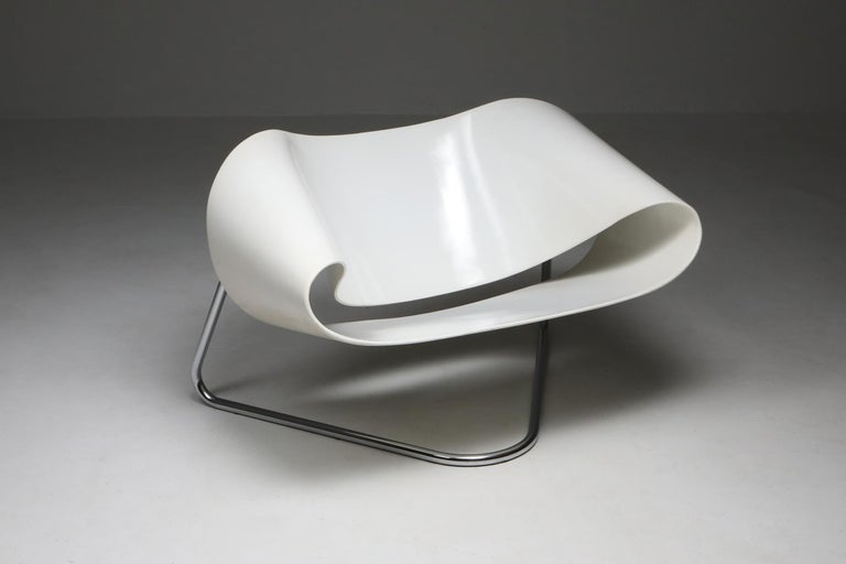 Ribbon Chair by Franca Stagi for Bernini, 1961 For Sale 1