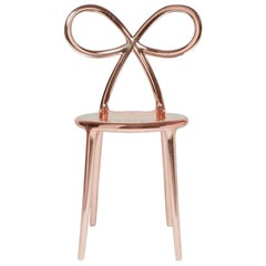 Ribbon Chair Metal Pink, by Nika Zupanc, Made in Italy