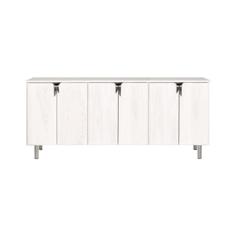 Debra Folz Ribbon three-door console in ivory ashwood, new