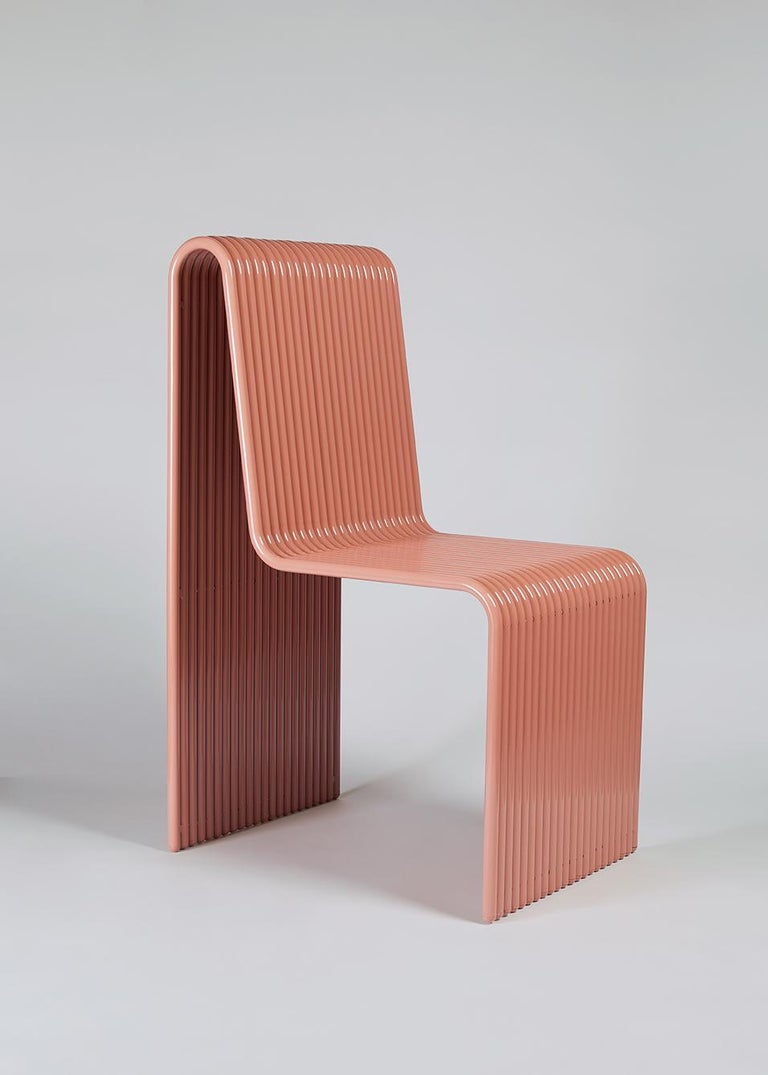 Modern Ribbon, Indoor/Outdoor Aluminum Chair by LAUN For Sale