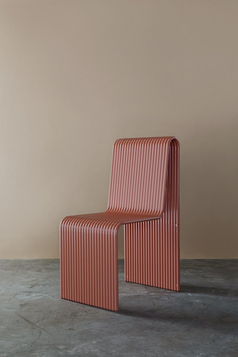 American Ribbon, Indoor/Outdoor Aluminum Chair by LAUN For Sale
