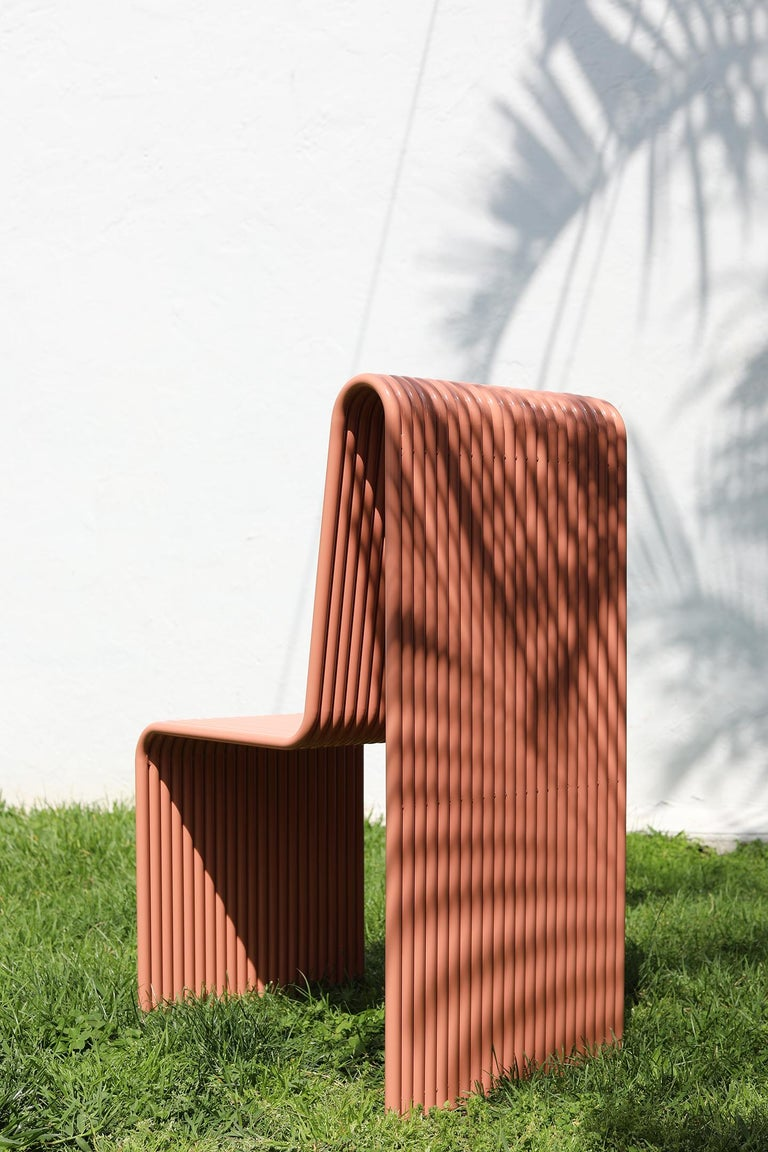 Powder-Coated Ribbon, Indoor/Outdoor Aluminum Chair by LAUN For Sale