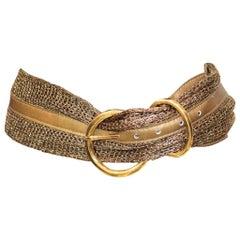Ribel Gold Mesh Belt W/ Gold Looped Buckle