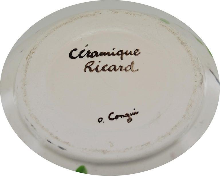 Ricard French Midcentury Ceramic Vase, Le Castellet, Bendor Island, 1950s In Excellent Condition For Sale In Saint-Amans-des-Cots, FR