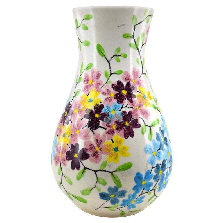 Ricard French Midcentury Ceramic Vase, Le Castellet, Bendor Island, 1950s For Sale