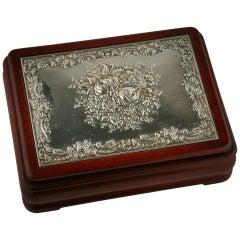 Ricardi Italian Wood and Silver Jewelry Box