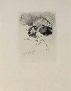 Portrait of...  - Vintage Offset Print by R. De Los Rios - Early 20th Century