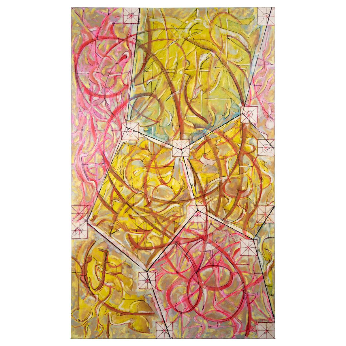 """Ricardo F. Morin """"Dodecahedron"""" Signed Oil on Canvas, 2005"""