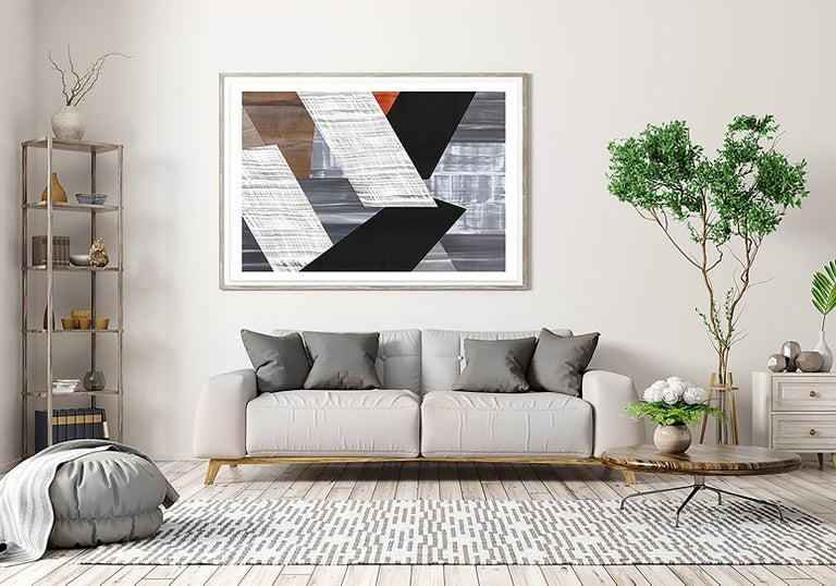 Praga P-6 2021 - Gray Abstract Print by Ricardo Mazal