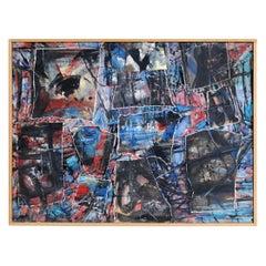 """Ricardo Santamaria, """"Recomposition bleu"""", 1968"""