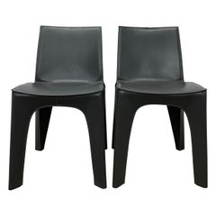 Riccardo Blumer & Matteo Borghi BB Leather Dining Chairs for Poliform, a Pair