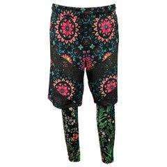 RICCARDO TISCI x NIKE Size M Multi-Color Floral Polyester Blend Casual Pants