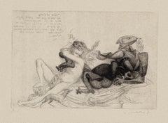 Courtship - Original Lithograph by Riccardo Tommasi Ferroni - 1970s