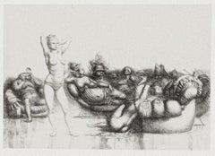 Figure - Original Etching by Riccardo Tommasi Ferroni - 1970s