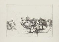 Figures - Original Etching by Riccardo Tommasi Ferroni - 1970s