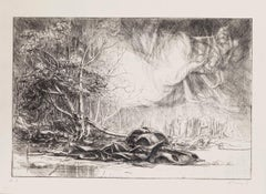 Nature Prevails - Original Etching by Riccardo Tommasi Ferroni - 1970s