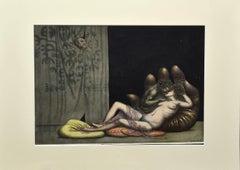 The Love - Original Etching by Riccardo Tommasi Ferroni - 1970s