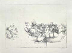 The Queen of the Room - Original Etching by Riccardo Tommasi Ferroni - 1970s