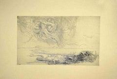 The Sea Monster - Original Etching by Riccardo Tommasi Ferroni - 1970s