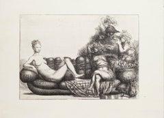 Venus - Original Etching by Riccardo Tommasi Ferroni - 1970s