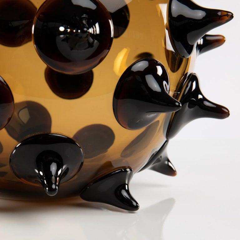 Blown Glass Riccio Vase, Gae Aulenti, Venini Murano, Italy For Sale