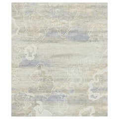 Rice Fields Hand-Knotted Wool and Silk 3.0 x 4.0m Rug