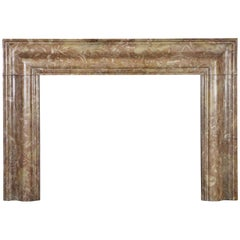 Rich and Vintage Colourful Marble Bolection Fireplace Surround