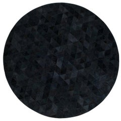 Small Round Charcoal Customizable Round Trilogia Cowhide Area Rug Small