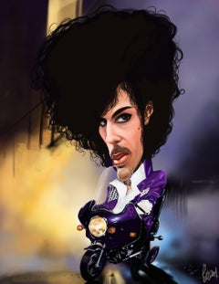 Prince Purple Rain 9 x 12 Limited Edition on Canvas