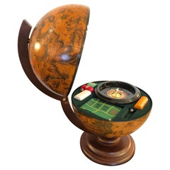 Rich Italian Globe with Roulette Game Interior