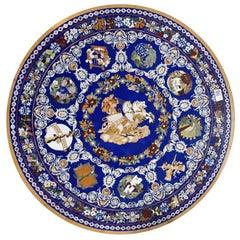 Rich Lapis Lazuli Pietre Dure Inlay Stone Tabletop