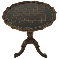 Rich Maitland Smith Checkerboard Mahogany Round Side Table