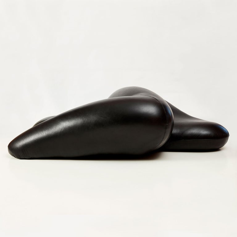 South African Rich Mnisi, Alkebulan II, Leather Chaise For Sale