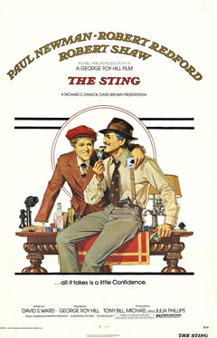 The Sting, original U. S. 1 sheet linen backed movie poster