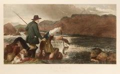 Fishing: Gaffing a Salmon