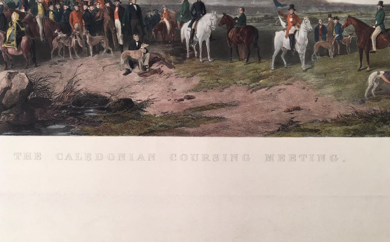 The Caledonian Coursing Meeting near Castle Androssan , Scotland - Print by Richard Ansdell