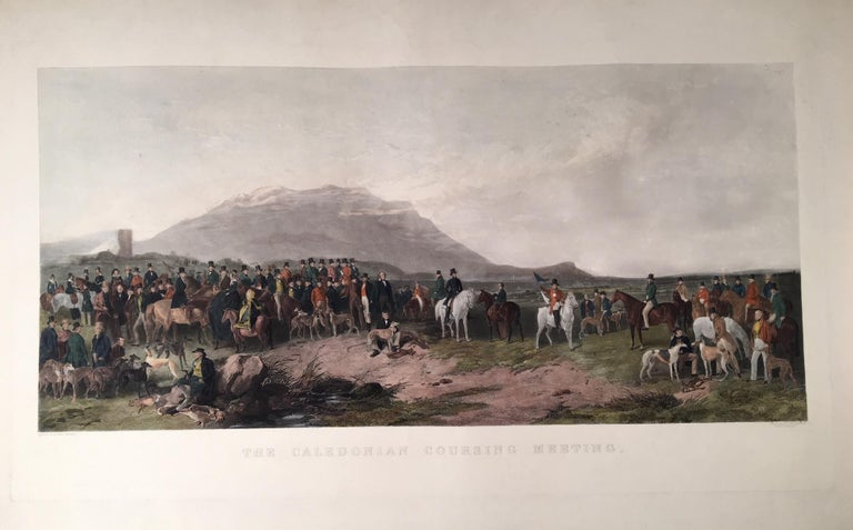 Richard Ansdell Landscape Print - The Caledonian Coursing Meeting near Castle Androssan , Scotland