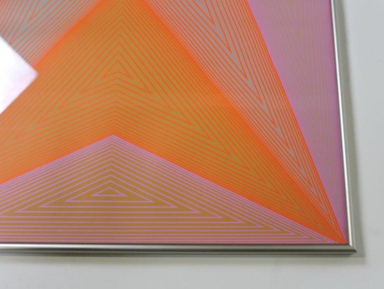 Mid-Century Modern Richard Anuszkiewicz Op Art Abstract Inward Eye Serigraph, Eternity For Sale