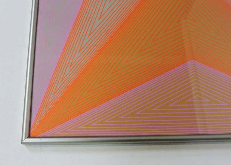 German Richard Anuszkiewicz Op Art Abstract Inward Eye Serigraph, Eternity For Sale