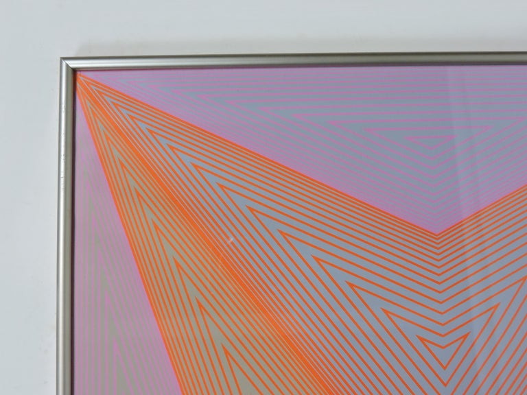 Richard Anuszkiewicz Op Art Abstract Inward Eye Serigraph, Eternity In Good Condition For Sale In Chesterfield, NJ