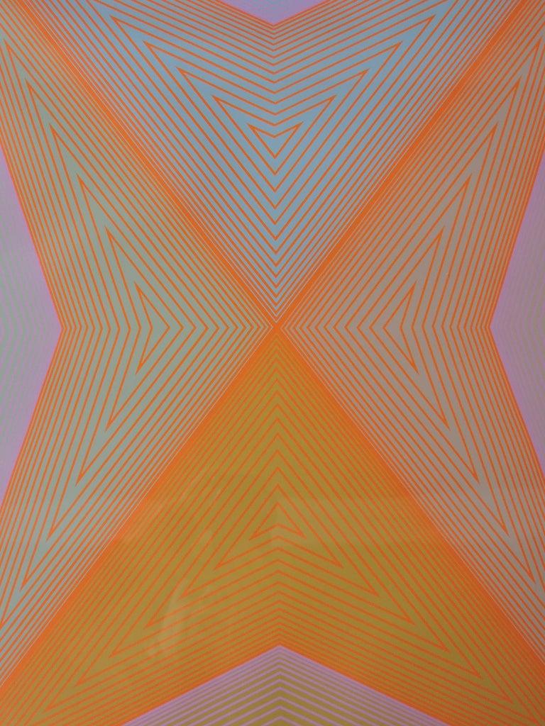 Late 20th Century Richard Anuszkiewicz Op Art Abstract Inward Eye Serigraph, Eternity For Sale