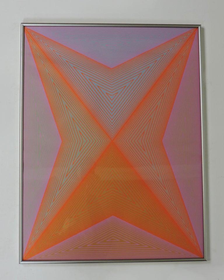 Paper Richard Anuszkiewicz Op Art Abstract Inward Eye Serigraph, Eternity For Sale