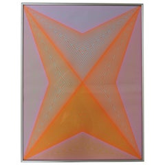 Richard Anuszkiewicz Op Art Abstract Inward Eye Serigraph, Eternity