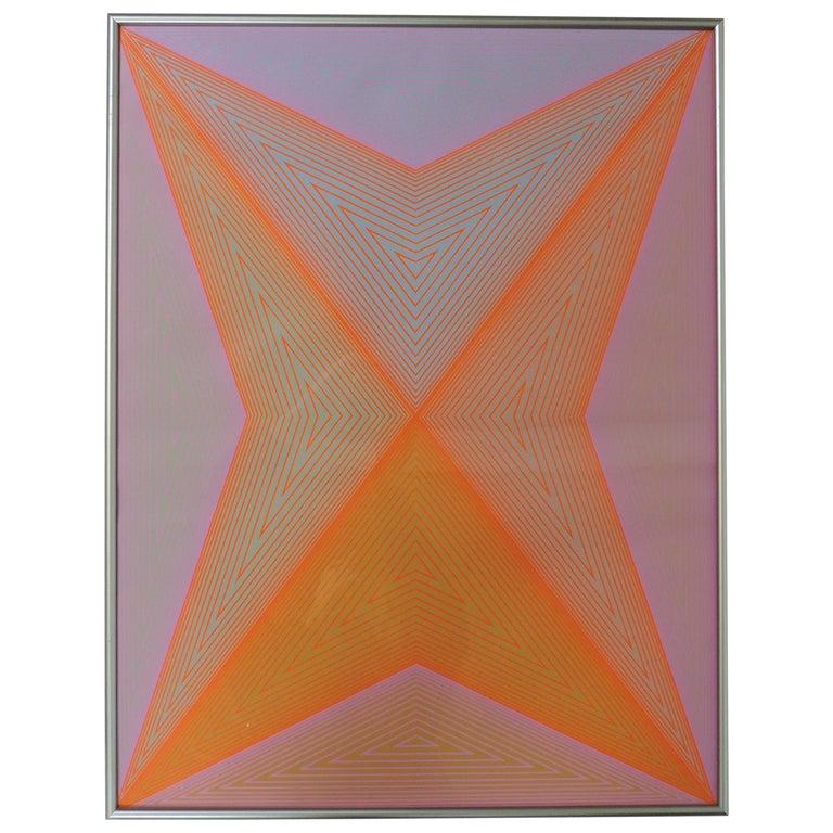 Richard Anuszkiewicz Op Art Abstract Inward Eye Serigraph, Eternity For Sale
