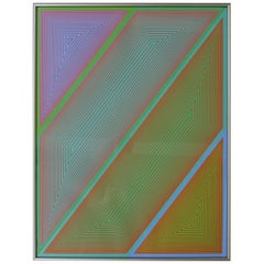 Richard Anuszkiewicz Op Art Abstract Inward Eye Serigraph, Grandeur