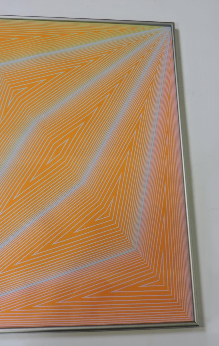 Mid-Century Modern Richard Anuszkiewicz Op Art Abstract Inward Eye Serigraph, the Eye Sees More For Sale