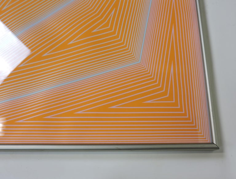 Richard Anuszkiewicz Op Art Abstract Inward Eye Serigraph, the Eye Sees More In Good Condition For Sale In Chesterfield, NJ