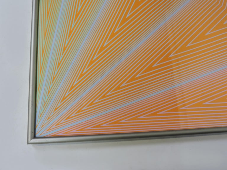 Late 20th Century Richard Anuszkiewicz Op Art Abstract Inward Eye Serigraph, the Eye Sees More For Sale
