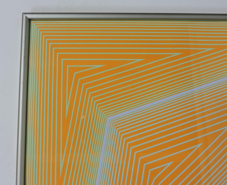 Paper Richard Anuszkiewicz Op Art Abstract Inward Eye Serigraph, the Eye Sees More For Sale